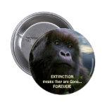 """""""ESPERE"""" el botón anti de la extinción del gorila  Pins"""