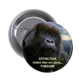 """""""ESPERE"""" el botón anti de la extinción del gorila"""