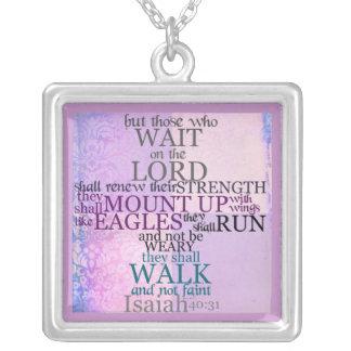 Espere en el collar del 40:31 de señor Scripture