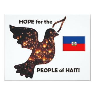 Espere la población de Haití - bandera Invitaciones Personales