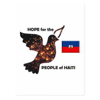 Espere la población de Haití - bandera Tarjetas Postales