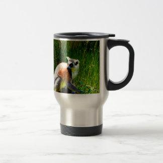 espere los prosimians atados anillo del lemur del taza de viaje