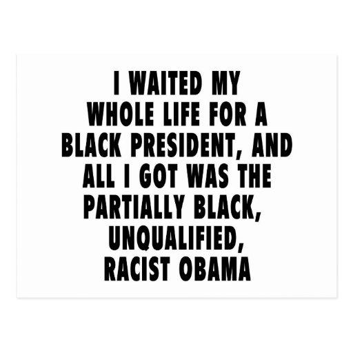 Esperé mi toda la vida un presidente negro… postal