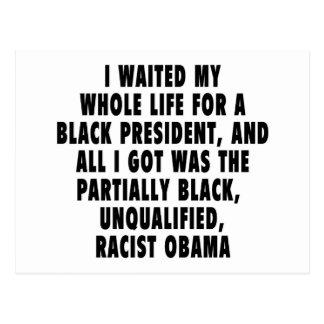 Esperé mi toda la vida un presidente negro… tarjeta postal