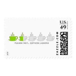 Espere por favor… Cargamento del cafeína Timbre Postal