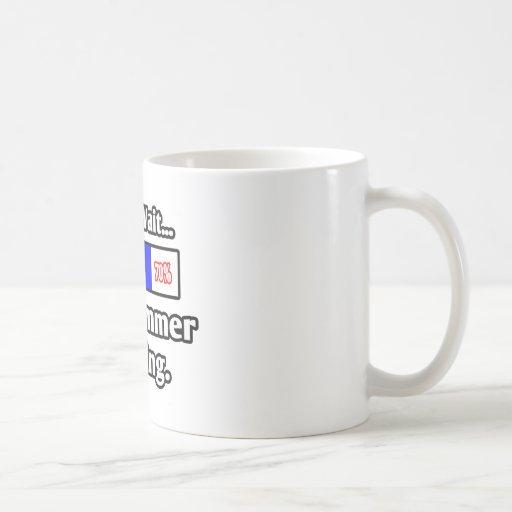 Espere por favor… el cargamento del programador taza básica blanca