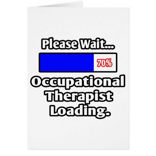 Espere por favor… el cargamento del terapeuta prof tarjetón