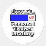 Espere por favor… el cargamento personal del instr etiqueta redonda