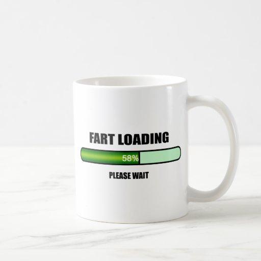 Espere por favor Fart novedad ahora cargada Taza De Café