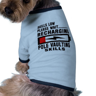 Espere por favor recargando habilidades de la camiseta con mangas para perro