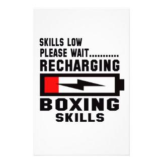 Espere por favor recargando habilidades del boxeo papelería