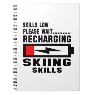 Espere por favor recargando habilidades del esquí cuaderno