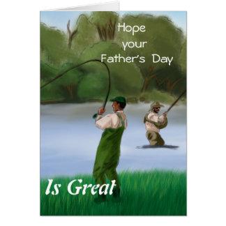 Espere que el su día de padre sea grande tarjeta de felicitación