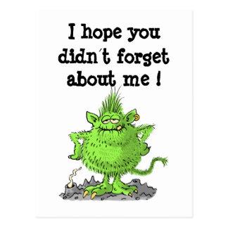 ¡espere que usted didn´t olvide mí! tarjetas postales