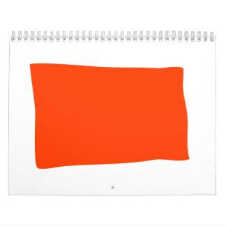 Espere y vea calendario de pared