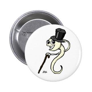 Esperma en un botón del sombrero de copa pin redondo de 2 pulgadas