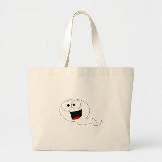 Esperma feliz bolsa tela grande