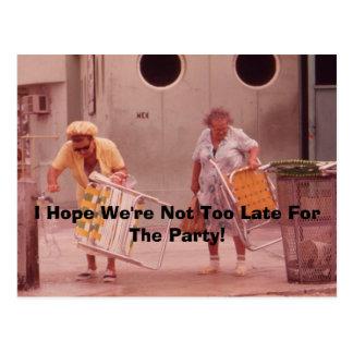 ¡Espero que no seamos demasiado atrasados para el  Tarjetas Postales