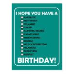 Espero que usted tenga A… Cumpleaños Tarjeta Postal