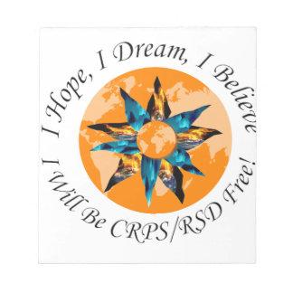 Espero sueño de I que creo que seré CRPS RSD Libreta Para Notas