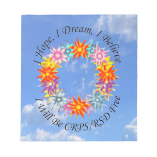Espero sueño de I que creo que seré CRPS RSD Libretas Para Notas