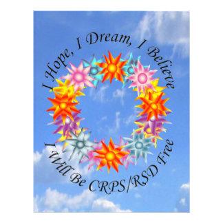 Espero sueño de I que creo que seré CRPS RSD Membrete A Diseño