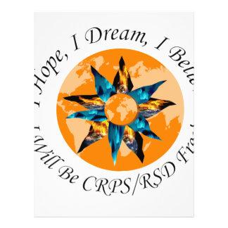 Espero sueño de I que creo que seré CRPS RSD Membrete Personalizado
