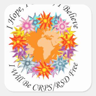 Espero sueño de I que creo que seré CRPS RSD Pegatina Cuadrada