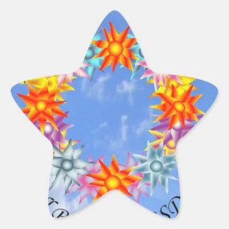 Espero sueño de I que creo que seré CRPS RSD Pegatina En Forma De Estrella