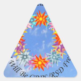 Espero sueño de I que creo que seré CRPS RSD Pegatina Triangular