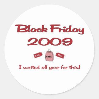 Esperó todo el año las compras negras de viernes pegatina redonda