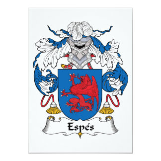 Espes Family Crest Personalized Invitations