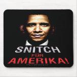Espía de Obama Alfombrillas De Ratón