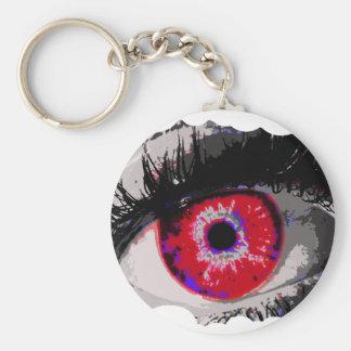 Espía del ojo llavero redondo tipo pin