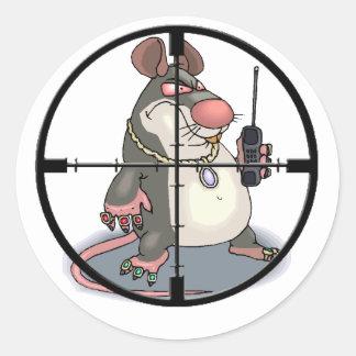 Espía en el retículo pegatina redonda