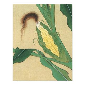 Espiga madura de invitación de la seda del trigo y