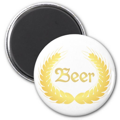 Espigas cerveza spikes beer imán redondo 5 cm