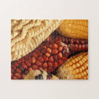 Espigas de trigo blancas amarillas rojas rompecabezas con fotos