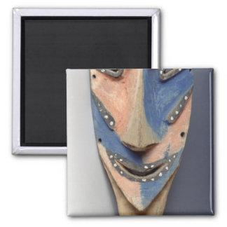 Espigue la máscara, de Ile de Vao, Nueva Caledonia Imán Cuadrado