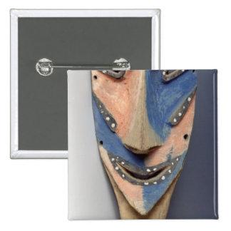 Espigue la máscara, de Ile de Vao, Nueva Caledonia Pin Cuadrada 5 Cm