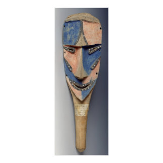 Espigue la máscara, de Ile de Vao, Nueva Caledonia Póster