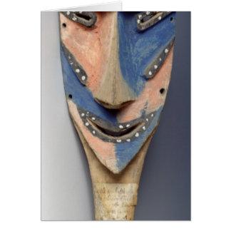 Espigue la máscara, de Ile de Vao, Nueva Caledonia Tarjeta De Felicitación