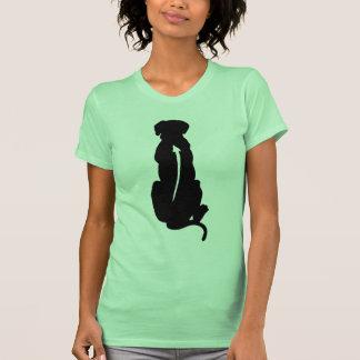 Espina dorsal de la raza del perro de Rhodesian Ri Camisetas