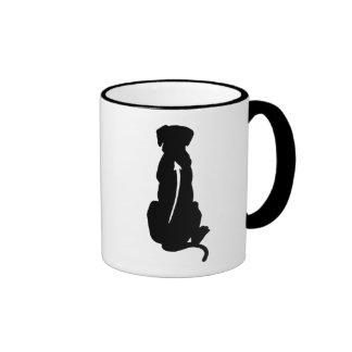 Espina dorsal de la raza del perro de Rhodesian Ri Tazas De Café