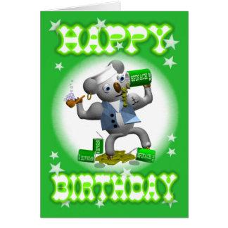Espinaca del feliz cumpleaños de la koala del tarjeta de felicitación