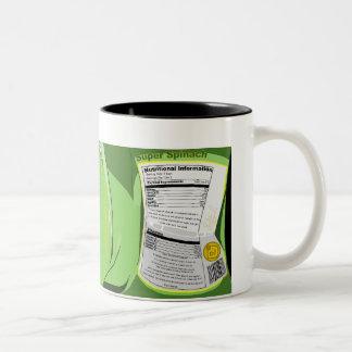 Espinaca estupenda conservada tazas de café