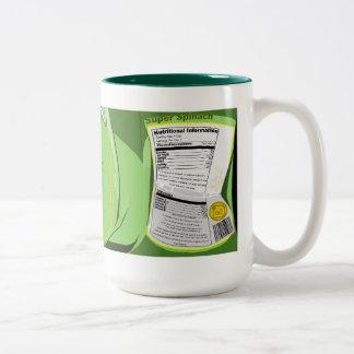 Espinaca estupenda conservada taza de café