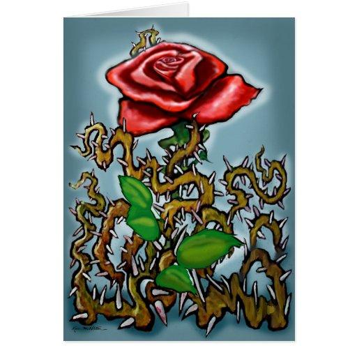 Espinas color de rosa de n tarjeta de felicitación