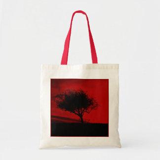 Espino de Glastonbury. Árbol en la colina. Rojo y  Bolsa Tela Barata