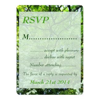 """Espino y roble Handfasting RSVP Invitación 6.5"""" X 8.75"""""""